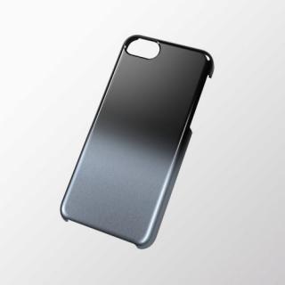 iPhone 5c用 シェルカバー(グラデーション) ブラック×シルバー