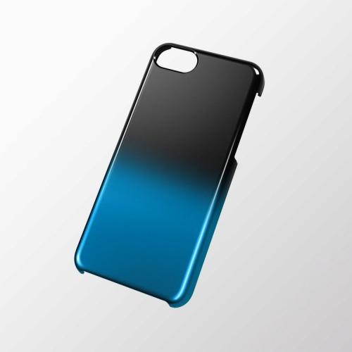 iPhone 5c用 シェルカバー(グラデーション) ブラック×ブルー_0