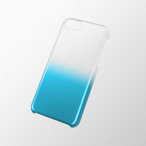 iPhone 5c用 シェルカバー(グラデーション) クリア×ブルー_0