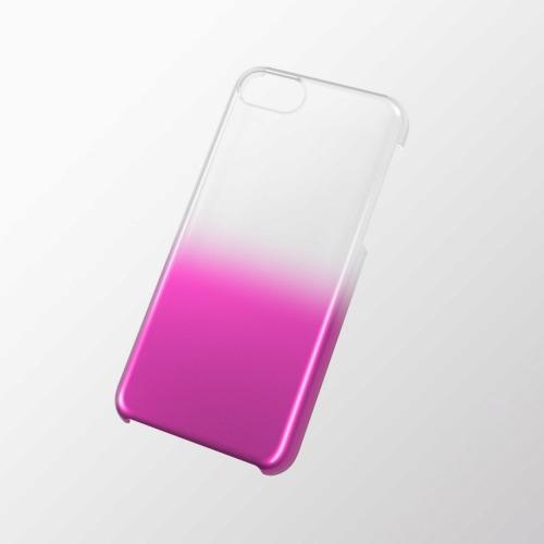 iPhone 5c用 シェルカバー(グラデーション) クリア×ピンク_0