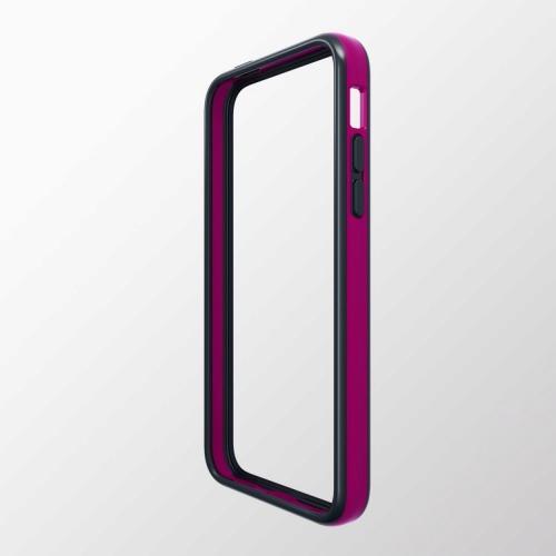 iPhone 5c用 ハイブリッドバンパー ディープピンク×ブラック_0