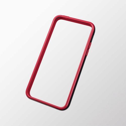 iPhone 5c用 ハイブリッドバンパー ブラック×レッド_0