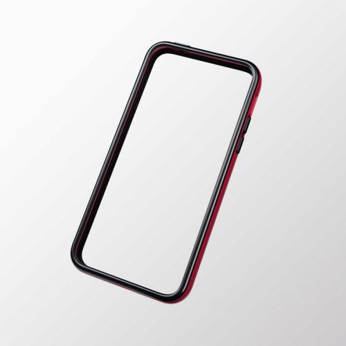 iPhone 5c用 ハイブリッドバンパー レッド×ブラック_0