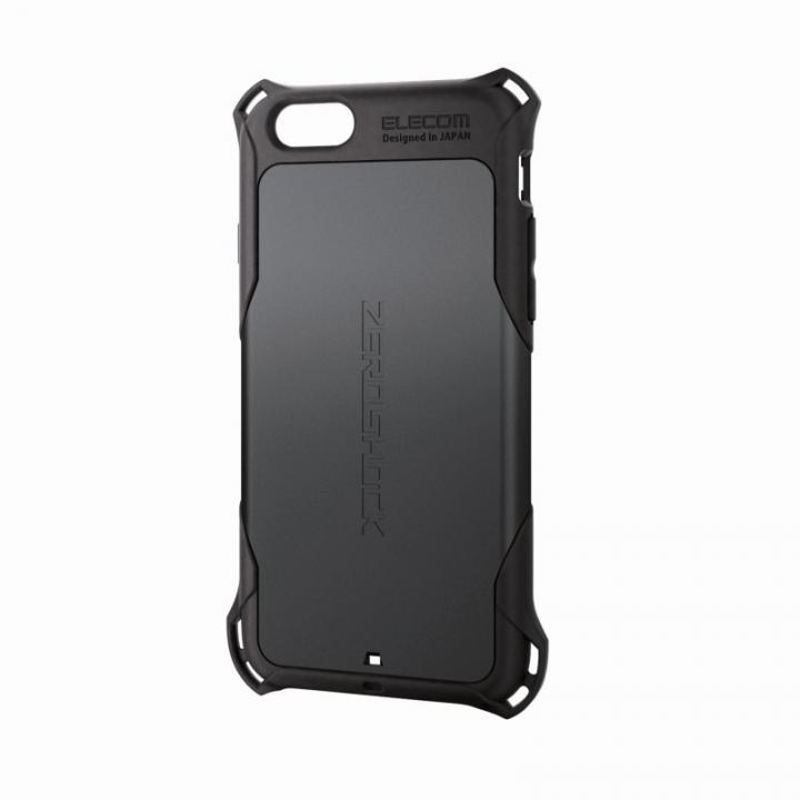 全方向の衝撃から守る ZEROSHOCK ブラック iPhone 6ケース