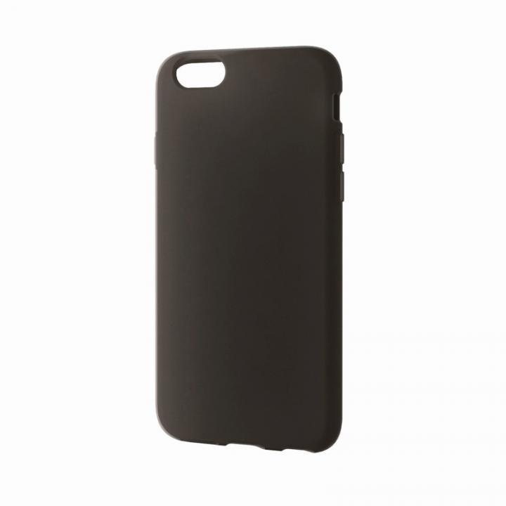 【iPhone6ケース】シリコンケース ノーマル ブラック iPhone 6ケース_0