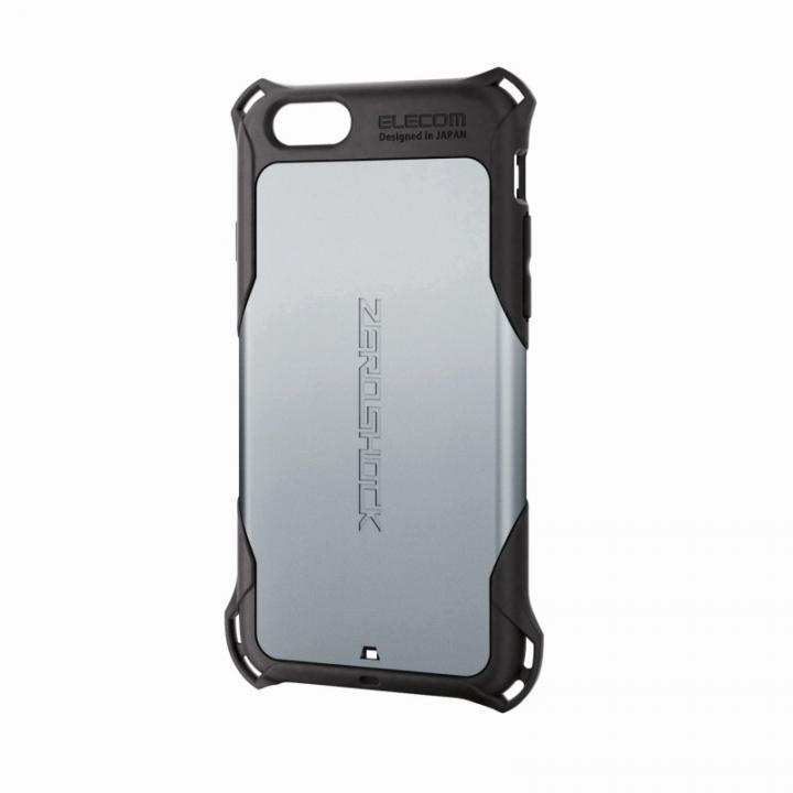 iPhone6 ケース 全方向の衝撃から守る ZEROSHOCK シルバー iPhone 6ケース_0