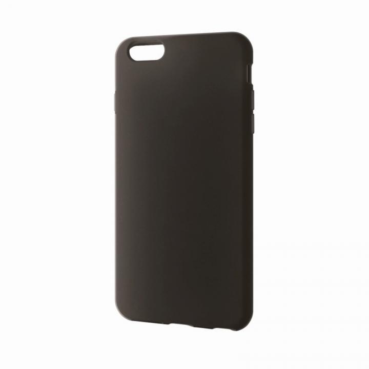 iPhone6 Plus ケース シリコンケース ノーマル ブラック iPhone 6 Plusケース_0