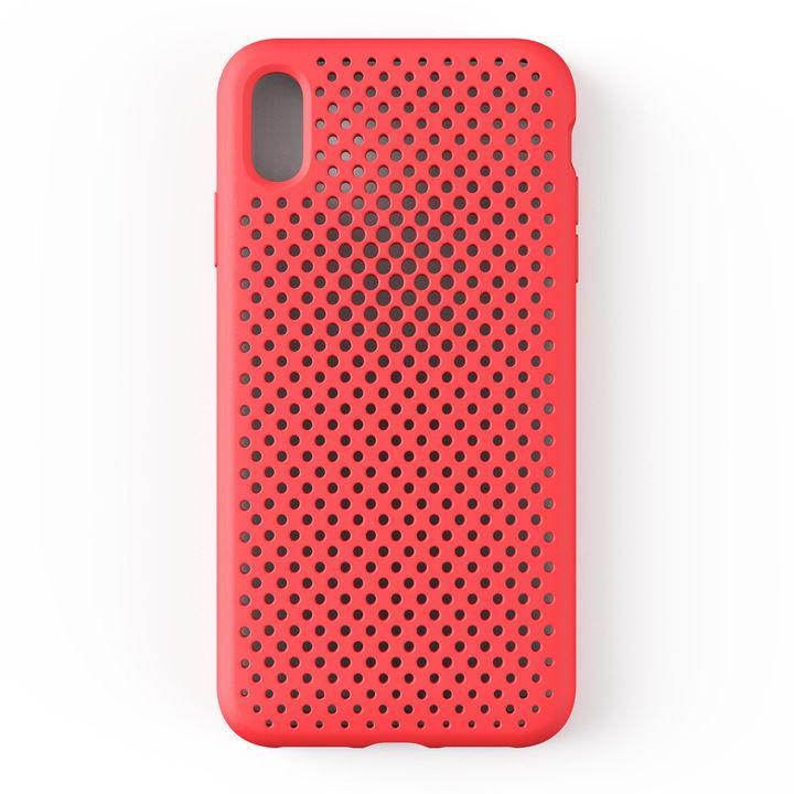 iPhone XS Max ケース エラストマー AndMesh MESH CASE ブライトレッド iPhone XS Max_0