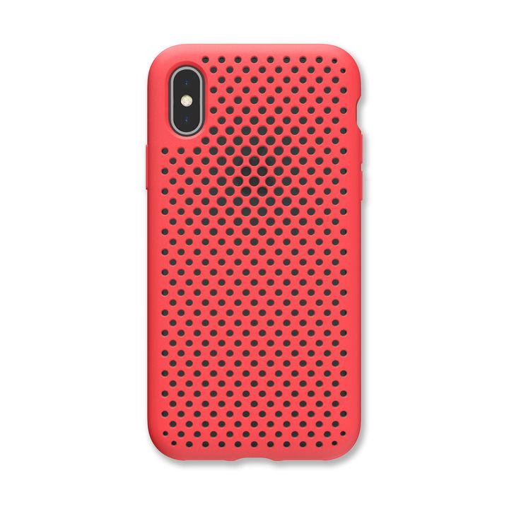 エラストマー AndMesh MESH CASE ブライトレッド iPhone XS