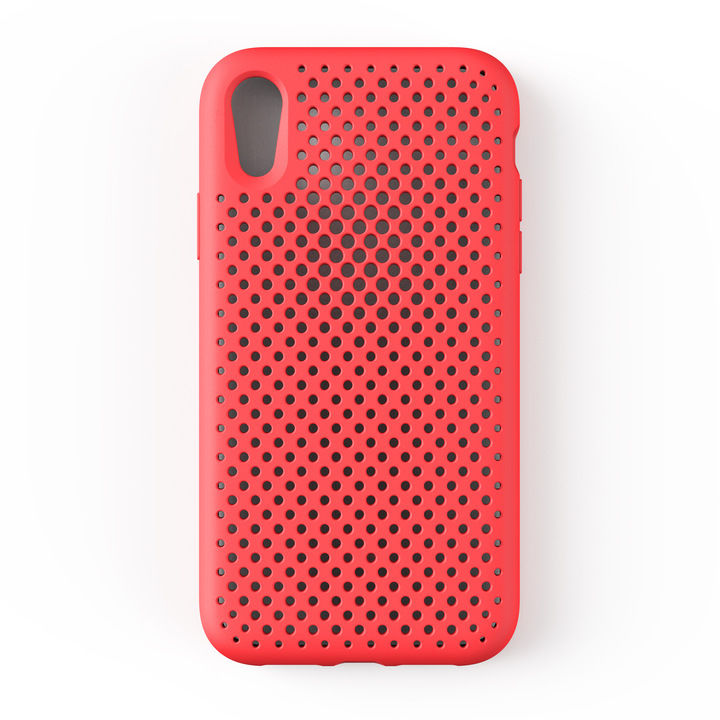 【iPhone XRケース】エラストマー AndMesh MESH CASE ブライトレッド iPhone XR_0