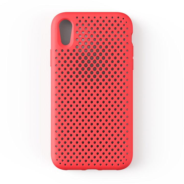 iPhone XR ケース エラストマー AndMesh MESH CASE ブライトレッド iPhone XR_0