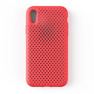 【iPhone XR】エラストマー AndMesh MESH CASE ブライトレッド iPhone XR