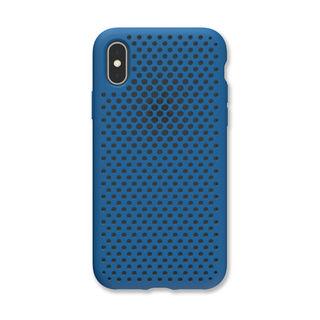 【iPhone XSケース】エラストマー AndMesh MESH CASE コバルトブルー iPhone XS