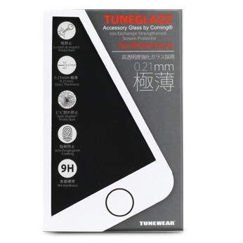 iPhone6s フィルム [0.21mm]高透明度強化ガラス TUNEGLAZZ iPhone 6s/6_0