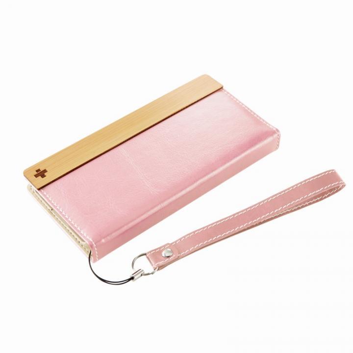 【iPhone6ケース】PUレザー/ファブリック手帳型ケース ピンク iPhone 6ケース_0