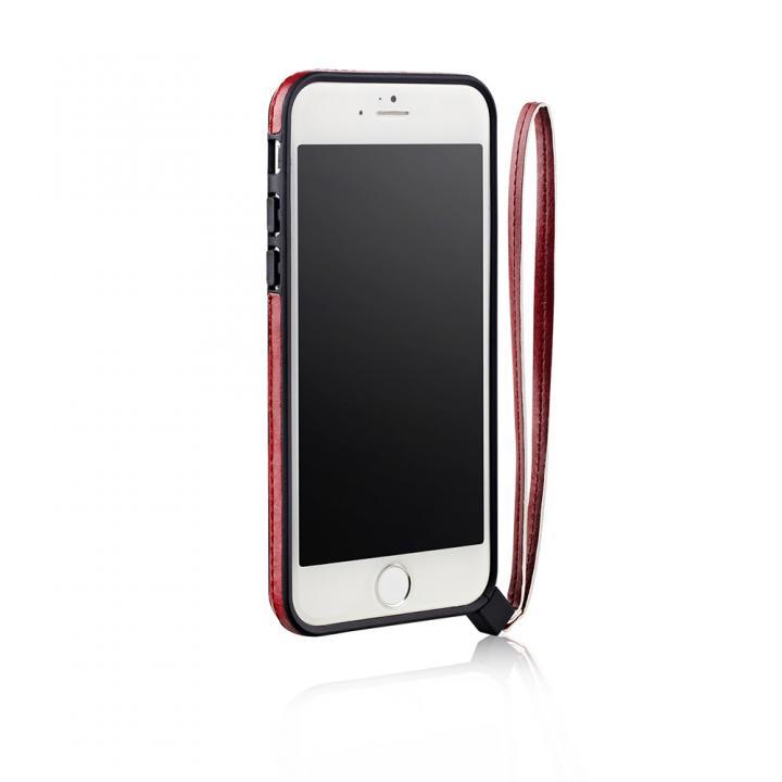 ストラップ一体型軽量バンパー レッド iPhone 6バンパー