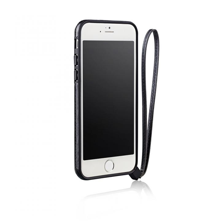 iPhone6 ケース ストラップ一体型軽量バンパー ブラック iPhone 6バンパー_0
