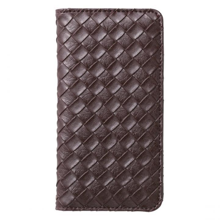 合成皮革手帳型ケース メッシュブラウン iPhone 6ケース