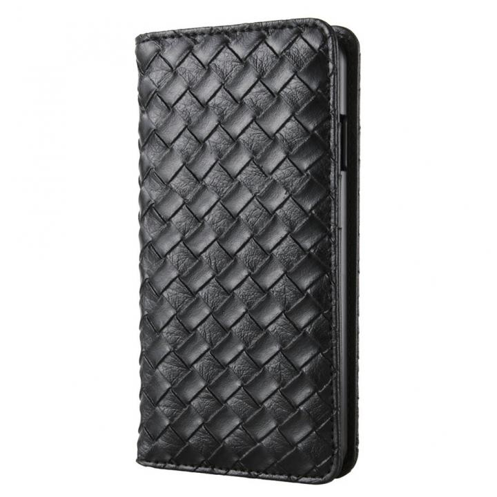 iPhone6 ケース 合成皮革手帳型ケース メッシュブラック iPhone 6ケース_0