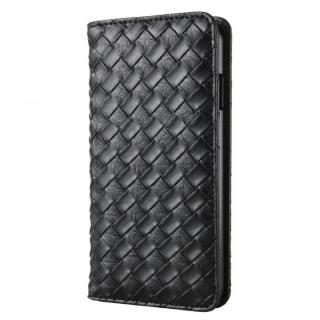 合成皮革手帳型ケース メッシュブラック iPhone 6