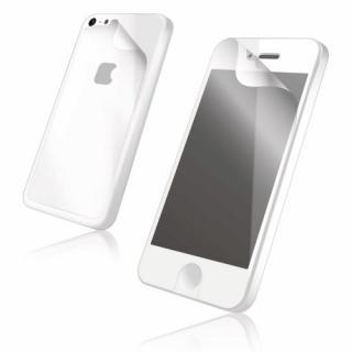 【iPhone SE/その他の/iPodフィルム】iPhone 5c用 指紋防止光沢フィルム(背面フィルム付き)