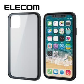 iPhone 11 ケース エレコム 2種構造 ハイブリッドケース ブラック iPhone 11