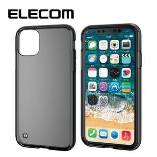 iPhone 11 ケース エレコム シンプルクリア耐衝撃ケース ブラック iPhone 11