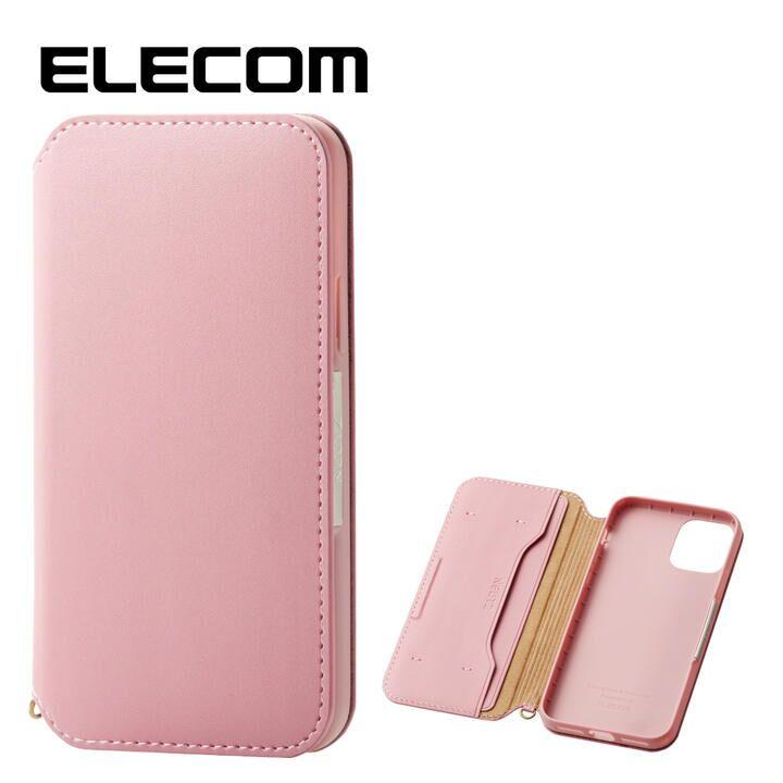 iPhone 11 Pro ケース エレコム NEUTZ レザー手帳型ケース  耐衝撃 カード収納 ピンク iPhone 11 Pro_0
