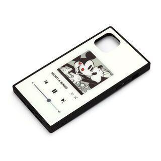 iPhone 11 Pro Max ケース ディズニー ガラスハイブリッドケース ミッキーマウス/ホワイト iPhone 11 Pro Max