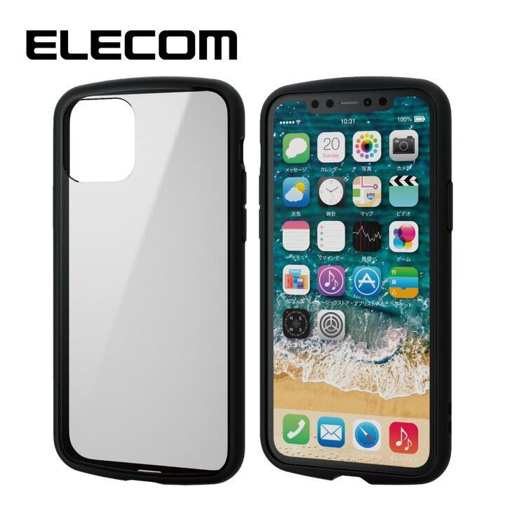 iPhone 11 Pro ケース エレコム TOUGH SLIM LITE 衝撃吸収ケース クリアブラック iPhone 11 Pro_0