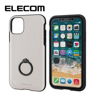 iPhone 11 ケース エレコム 耐衝撃ケース TOUGH SLIM フィンガーリング ホワイト iPhone 11