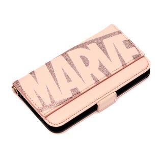 iPhone 11 ケース MARVEL ダブルフリップカバー ロゴ/ピンク iPhone 11