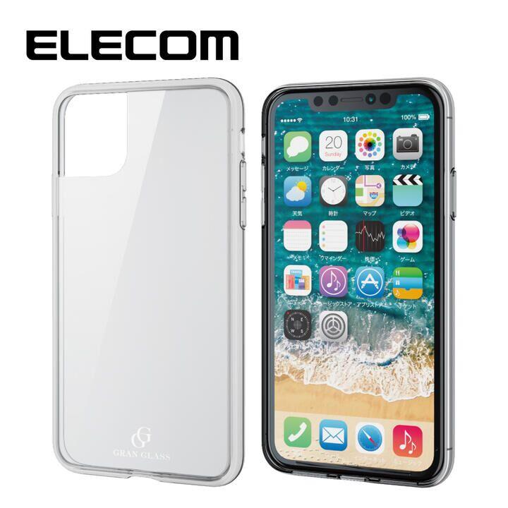 iPhone 11 ケース エレコム 耐衝撃ガラスハイブリッドケース クリア iPhone 11_0