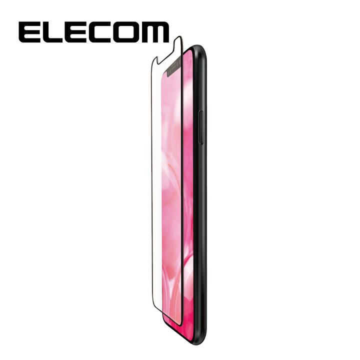 iPhone 11/XR フィルム エレコム フルカバー超耐衝撃保護フィルム 反射 / 指紋 防止 ブラック iPhone 11/XR_0