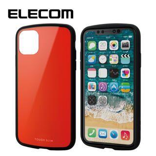 iPhone 11 ケース エレコム TOUGH SLIM LITE 衝撃吸収ケース レッド iPhone 11