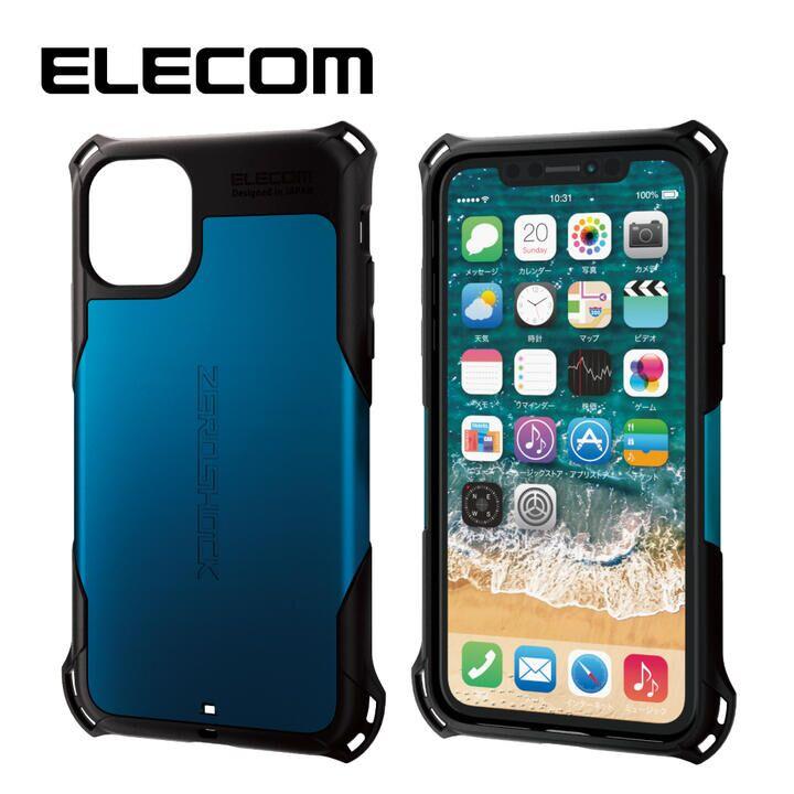 エレコム ZEROSHOCK 耐衝撃ケース ブルー iPhone 11_0