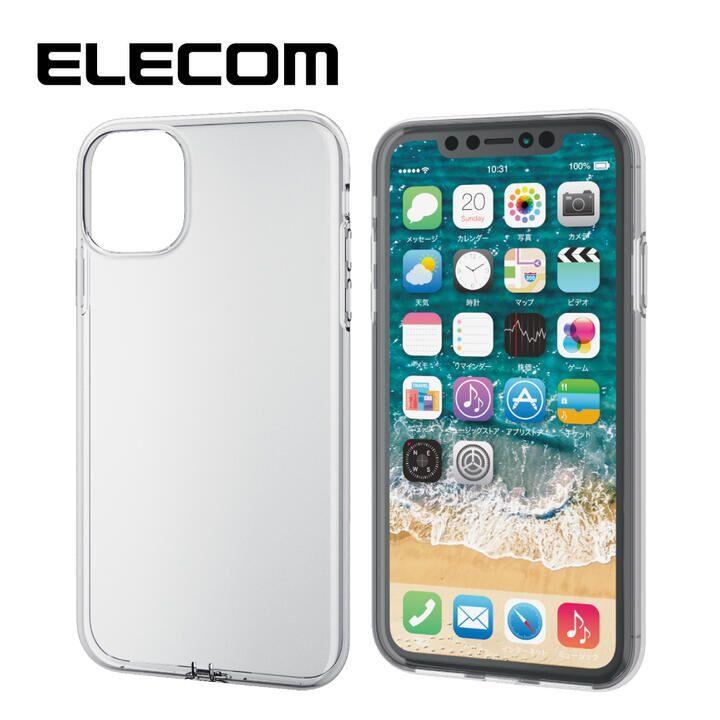 iPhone 11 ケース エレコム フォルティモ TPUクリアケース クリア iPhone 11_0