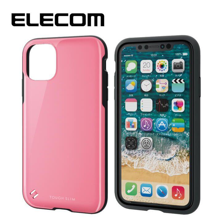 iPhone 11 ケース エレコム TOUGH SLIM 衝撃吸収ケース ピンク iPhone 11_0