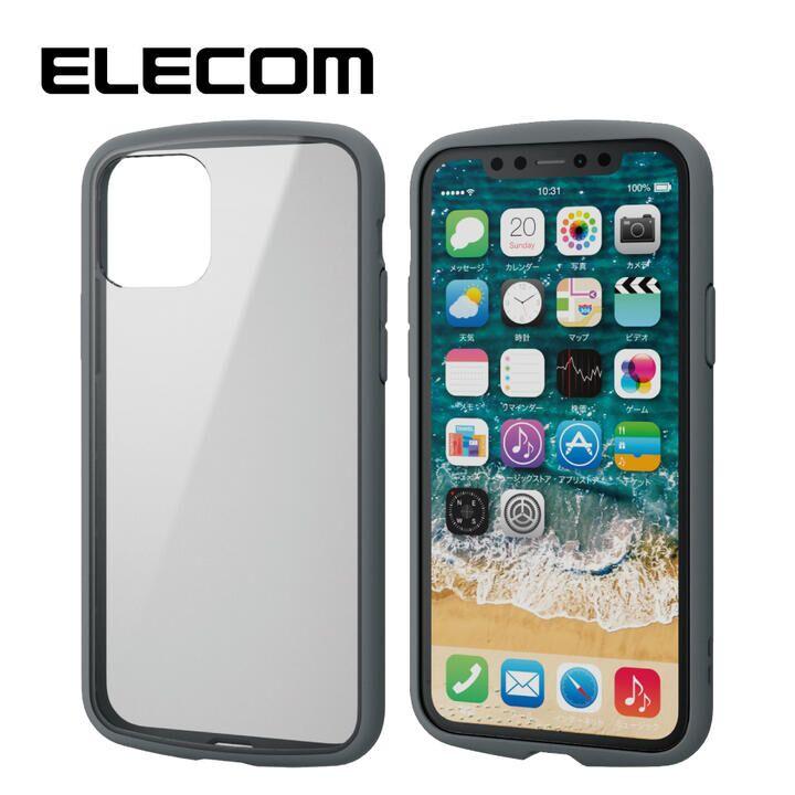 iPhone 11 Pro ケース エレコム TOUGH SLIM LITE 衝撃吸収ケース クリアグレー iPhone 11 Pro_0
