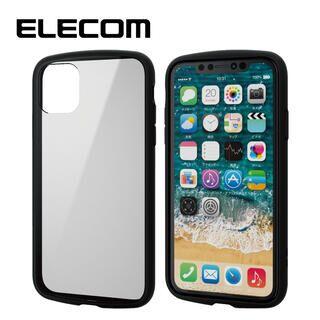 iPhone 11 ケース エレコム TOUGH SLIM LITE 衝撃吸収ケース クリアブラック iPhone 11