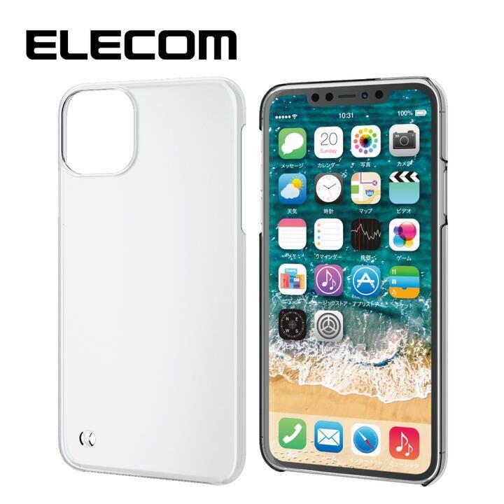 エレコム ストラップホール スリム ポリカーボネートケース クリア iPhone 11 Pro Max【9月中旬】_0