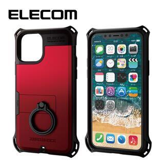 iPhone 11 Pro ケース エレコム リング付き ZEROSHOCK 超耐衝撃ケース レッド iPhone 11 Pro