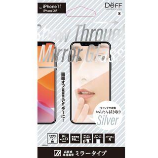 iPhone 11 フィルム Show Through Mirror Glass 強化ガラス シルバー iPhone 11