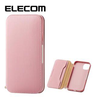 iPhone 11 ケース エレコム NEUTZ レザー手帳型ケース  耐衝撃 カード収納 ピンク iPhone 11