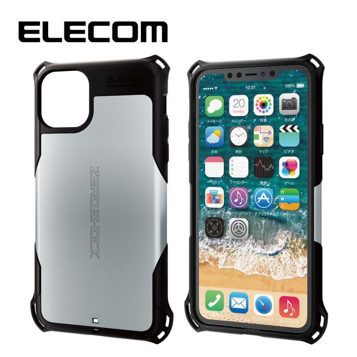iPhone 11 Pro Max ケース エレコム ZEROSHOCK 耐衝撃ケース シルバー iPhone 11 Pro Max_0