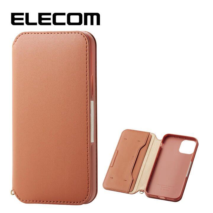 iPhone 11 Pro ケース エレコム NEUTZ レザー手帳型ケース  耐衝撃 カード収納 ブラウン iPhone 11 Pro_0