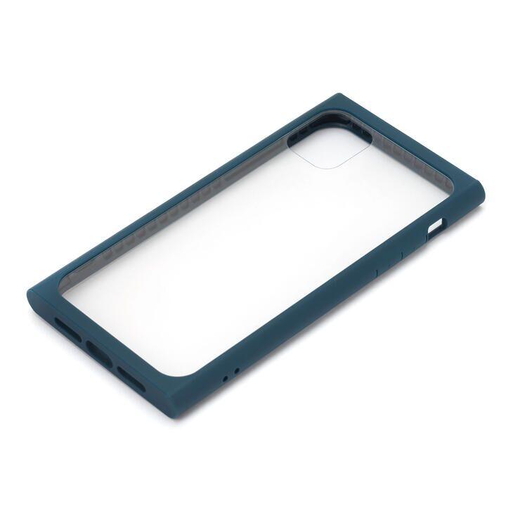 iPhone 11 ケース クリアガラス タフケース スクエア型 ネイビー iPhone 11_0