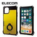 エレコム リング付き ZEROSHOCK 超耐衝撃ケース イエロー iPhone 11