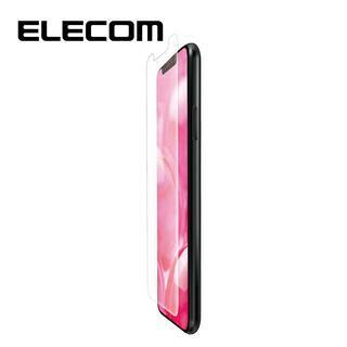 iPhone 11/XR フィルム エレコム フルカバー超耐衝撃保護フィルム 指紋防止 高光沢 透明 iPhone 11/XR