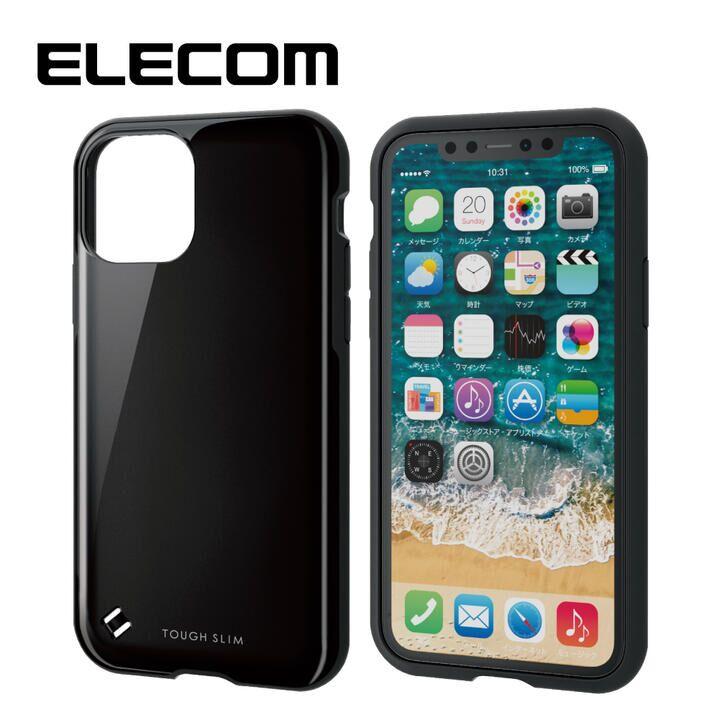 iPhone 11 Pro ケース エレコム TOUGH SLIM 衝撃吸収ケース ブラック iPhone 11 Pro_0